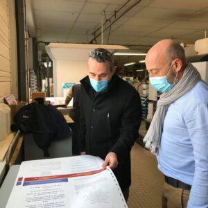 Avec Mr David Goineau, Dirigeant