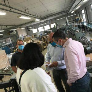 Visite de l'imprimerie IGO au Poiré sur Vie